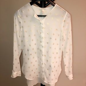 Gold diamond speck blouse